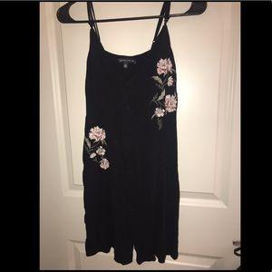 Kendall & Kylie Short Black Button Down Dress